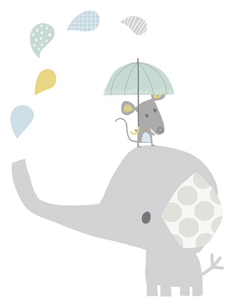 wandsticker babyzimmer lilipinso xl wandtattoo 39 elefant maus 39 grau pastell 75cm bei fantasyroom kaufen