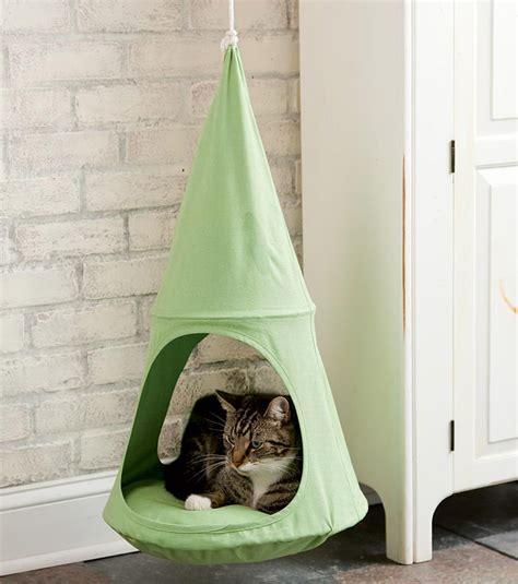 cat hammock diy hanging cat cuddle pod the green