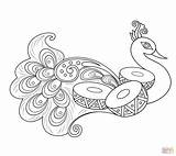 Rangoli Peacock Coloring Pages Printable Drawing Easy Outlines Supercoloring Crafts Patterns Mandala Malvorlagen Select Category Feathers Erwachsene Designs Bilder Colouring sketch template