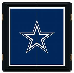 dallas cowboys nfl extreme fan dart cabinet set modern With kitchen cabinets lowes with dallas cowboys wall art