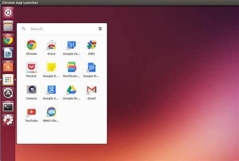 chrome app launcher  linux heres