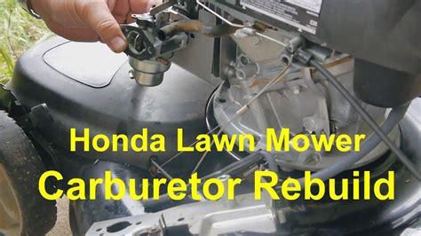 Rebuild Honda Lawn Mower Carburetor Gcv