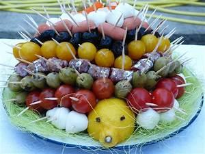 Idée Brochette Apéro : herisson brochettes apero elles cuisinent ~ Melissatoandfro.com Idées de Décoration