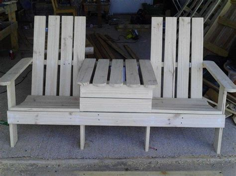 build a chair bench with table diy projects for