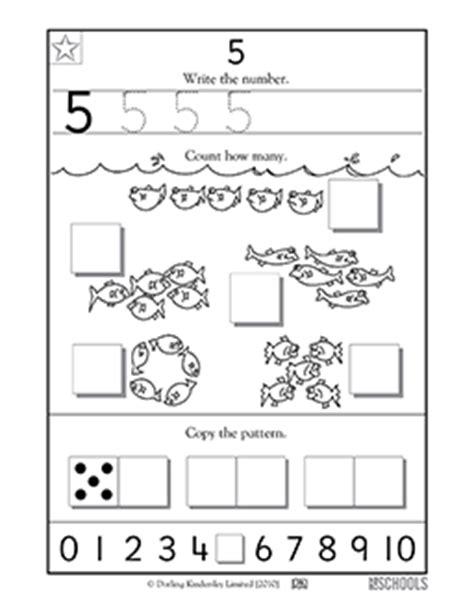kindergarten preschool math worksheets learning 5