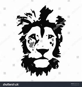 Lion Head Vector Illustration Wild Lion Stock Vector ...