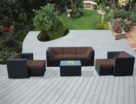 genuine ohana outdoor patio sofa wicker furniture 8pc