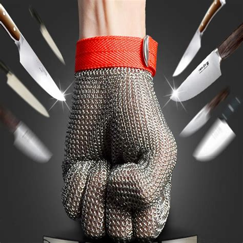 stainless steel cooking cut resistant gloves kitchen