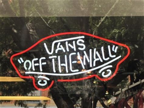 vans quot off the wall quot fort collins co neon signs on