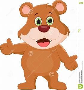 Cute Brown Bear Cartoon Stock Vector - Image: 72025735