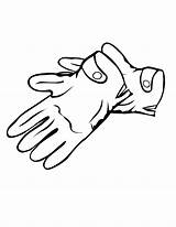 Gloves Coloring Winter Pages Printable Glove Clipart Getcoloringpages sketch template