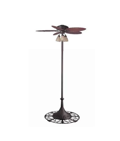 outdoor standing fans lowes hunter outdoor 54 free standing oasis patio ceiling fan