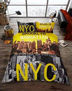 Brooklyn manhattan nyc premium duvet cover bedding set for Brooklyn bedding store