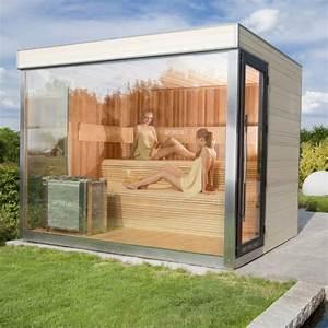Sauna Mit Glasfront : sauna mit glasfront vip gartensauna deluxe optirelax blog ~ Whattoseeinmadrid.com Haus und Dekorationen