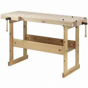 Garage Workshop Woodworking Top Wood Work Bench Birch Tool Shop Workbench Vice eBay