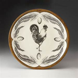 Rooster Large Round Platter by Laura Zindel (Ceramic ...
