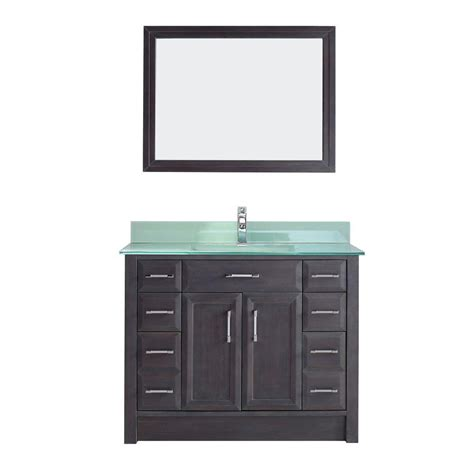 studio bathe vanity studio bathe calais 42 in vanity in gray with