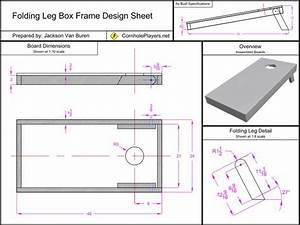 Folding Leg Box Frame Design Spec Sheet For Cornhole