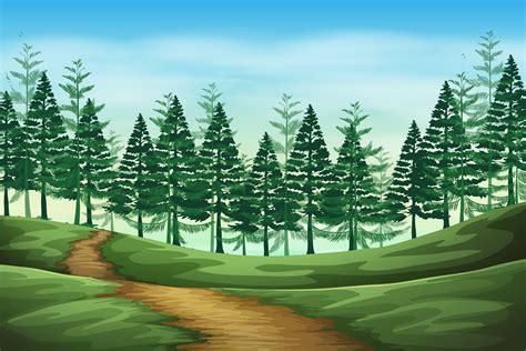 forest landscape background scene   vectors