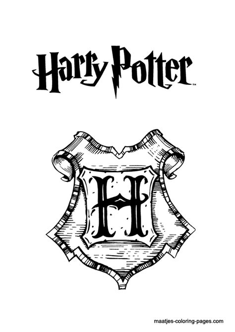 sign harry potter coloring pages color