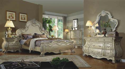 formal traditional antique white p bedroom set est king