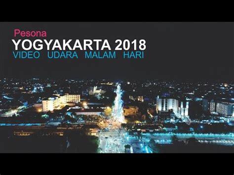 video drone kota jogja malam hari  skyline kota