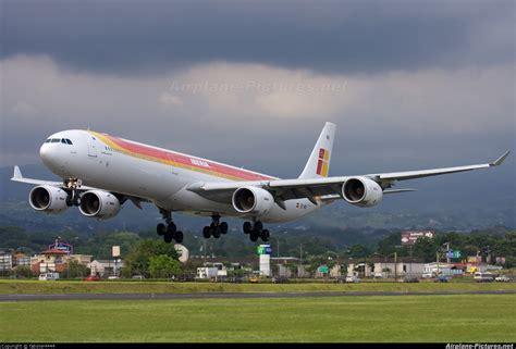 EC INO Iberia Airbus A340 600 at San Jose Juan