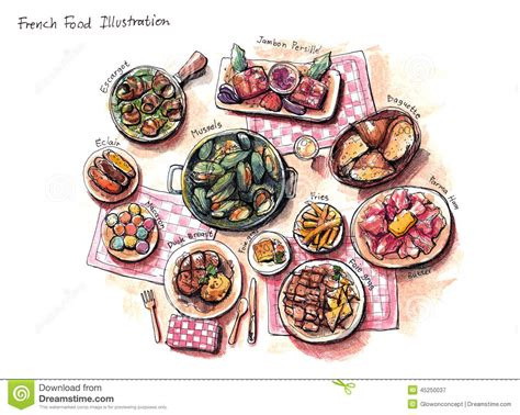 illustration cuisine food illustration stock illustration illustration