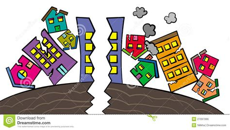 Earthquake Results Stock Illustration. Illustration Of