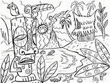 Coloring Pages Hawaii Hawaiian Clipart Beaches Library sketch template
