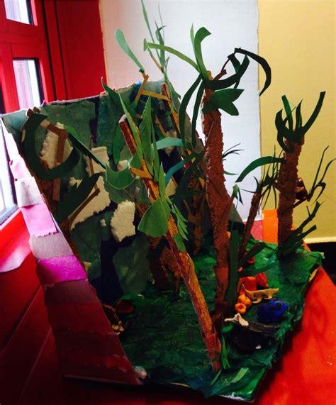 ecosystem diorama rainforest habitat