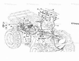 Arctic Cat Atv 2001 Oem Parts Diagram For Wiring Harness Assembly