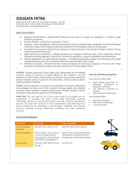 It Pre Sales Resume by Resume Pre Sales Enu Coal