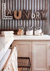 10 most awesome laundry room with rustic touches With laundry letters