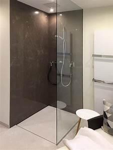 Wandverkleidung Dusche Kunststoff : fugenlose duschen pflegeleicht und puristisch baqua ~ Sanjose-hotels-ca.com Haus und Dekorationen