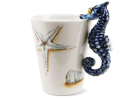 sea horse handmade oz coffee mug  blue witch