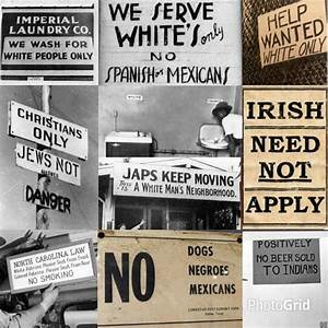 Image Gallery discrimination signs