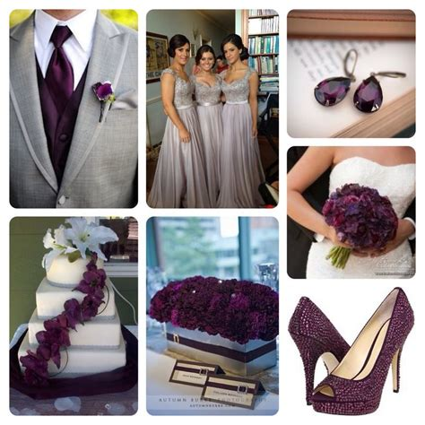 Grey And Dark Plum Wedding!  Wedding Pinterest