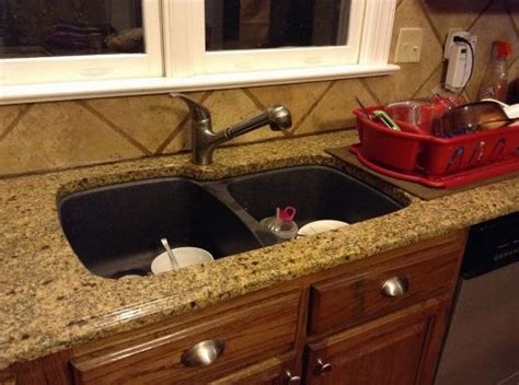 granite countertop with sink replace sink in granite countertop hometalk