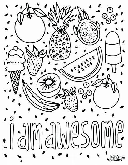 Coloring Pages Awesome Am Sheet Mindset Growth