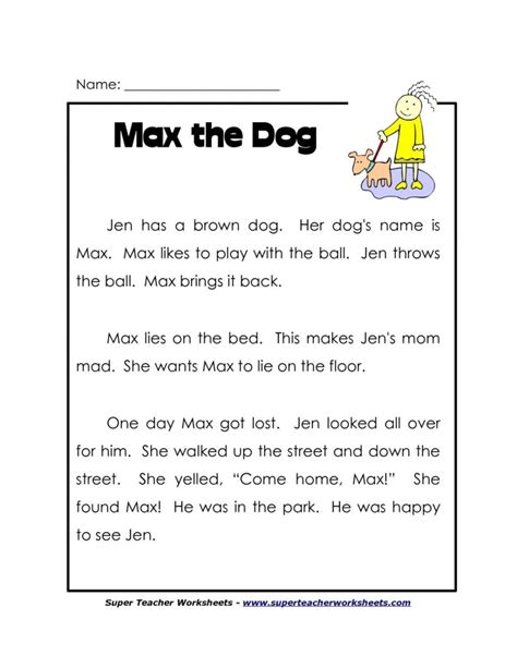 worksheet kindergarten comprehension free reading