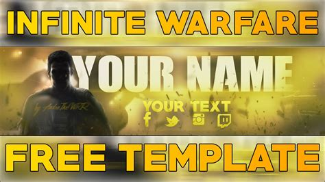 Banner Template Call Of Duty Infinite Warfare by Free Youtube Banner Template Call Of Duty Infinite
