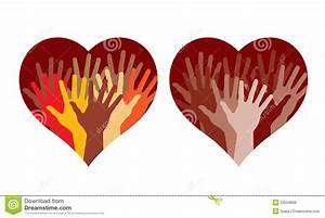 Hearts With Many Helping Hands Royalty Free Stock Image ...