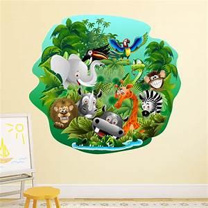 Stickers Animaux De La Jungle : sticker animaux de la jungle en f te stickers animaux animaux de la jungle ambiance sticker ~ Mglfilm.com Idées de Décoration