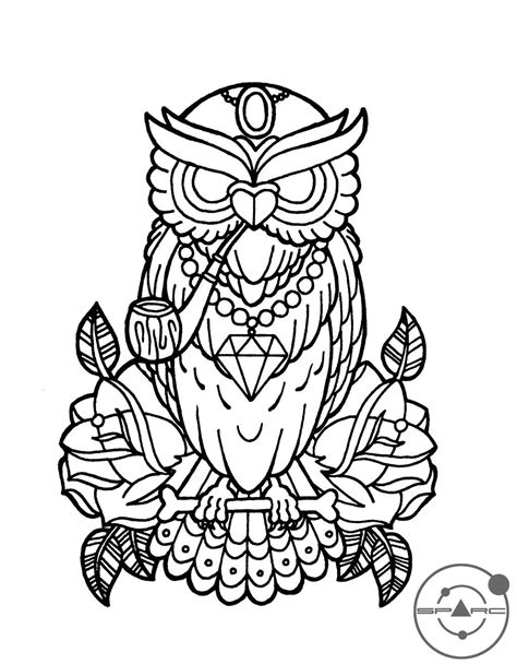 owl++love+coloring+pages | deviantART: More Like Chrysanthemum sketch by | Color Me Happy