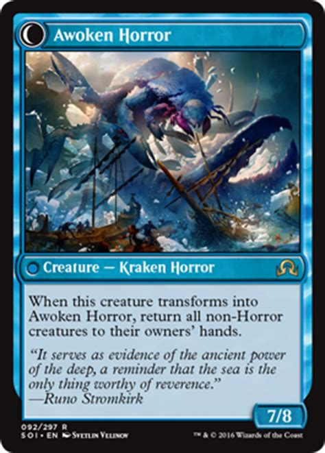 Mtg Blue Green Kraken Deck by Shadows Innistrad Magic The Gathering