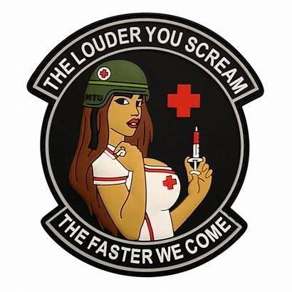 Medic Scream Louder Patch Faster Come Pinup