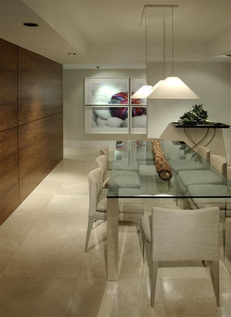 wood paneling for walls Entry Contemporary with built in