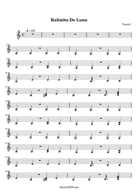 Each section begins with a guide showing which kalimbas can play the songs , and which. Kalimba De Luna Sheet Music - Kalimba De Luna Score • HamieNET.com
