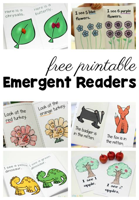 50 free preschool printables for early childhood classrooms 458 | free preschool printables emergent readers